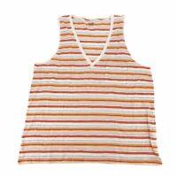 Madewell Womens Tank Top Striped Sleeveless V Neck 100% Cotton Plus XXL New