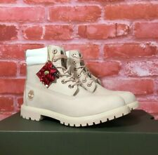 """TIMBERLAND WOMEN'S WATERVILLE 6"""" WATERPROOF BOOTS HOLIDAY EDITION LIGHT PINK"""