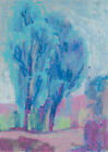 original drawing A5 21GrO art samovar modern pastel landcape Signed 2021