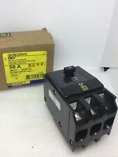 Square D Qob350Vh, 50 Amp 240 Volt 3 Pole Circuit Breaker- New