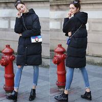 Women Hooded Puffer Jacket Winter Thick Parka Outwear Outdoor Long Midi Coats