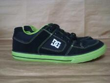DC UK 4.5 BLACK & LIME GREEN SKATEBOARD TRAINERS EXCELLENT