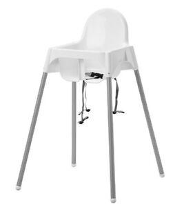 IKEA ANTILOP Kinderhochstuhl weiß Hochstuhl Babystuhl Tablett Stützkissen Baby
