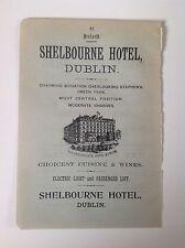 Dublin, The Shelbourne Hotel, 1899 Antique Advert, Ireland, Electric Light