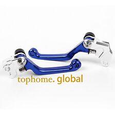 For Yamaha YZ80 YZ85 2001-2014 Blue CNC Pivot Brake Clutch Levers 02 03 04 05 06