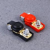 2 PCS Auto Car Positive Negative Battery Terminal Clamp Connectors with Cover
