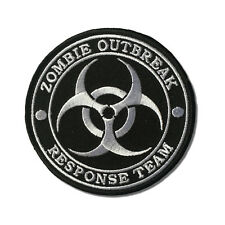 Embroidered Zombie Outbreak Response Team White Sew or Iron on Patch Biker Patch