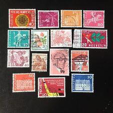 Lot de 15 timbres de Suisse années diverses - Briefmarken D8
