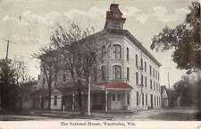 Waukesha Wisconsin National House Street View Antique Postcard K16061