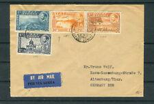 Lupo-Brief Äthiopien Mi.-Nr. 242,245,247 u. 248 MiF nach Altenburg - b7156