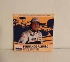 FERNANDO ALONSO F1 DRIVER POSTCARDS  ING RENAULT 2008