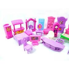 22Pcs/Set Dolls furniture TV chair table Bathtub sofa Bed Clock toys for Kids