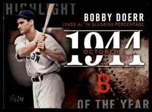 2015 TOPPS HIGHLIGHT OF THE YEAR BOBBY DOERR BOSTON RED SOX #H-39 INSERT