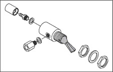 Cup Fill Toggle Valve (Gray) for A-dec
