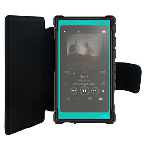 PU Leather Flip Case for Sony Walkman NW-A35 NW-A45 Cover + Screen Protector