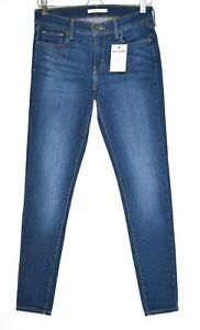Womens Levis SUPER SKINNY 710 Dark Blue Stretch Jeans Size 10 W29 L30