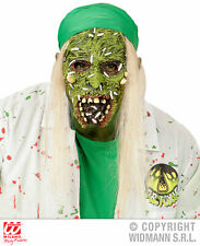 Zombie Halbmaske mit Haaren Toxische Doktor Horror Halloween Herren