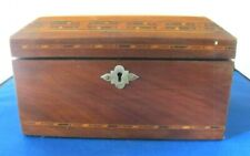 STUNNING ANTIQUE/VINTAGE WOODEN JEWELRY BOX WITH INLAID DESIGN.. l@@k!