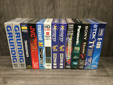 More details for 13x new & sealed vhs blank video cassette tapes - mixed brands - 3hr & 4hr tapes