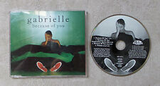 "CD AUDIO MUSIQUE INT / GABRIELLE ""BECAUSE OF YOU"" CD MAXI-SINGLE 1991 4T"