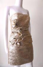 GRACE & HART  Strapless Gold Sheath  Dress Size 10 US 6