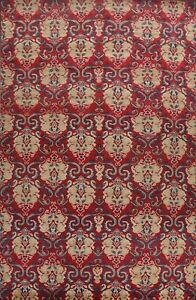 All-Over Transitional Wool/ Silk Abstract Oriental Area Rug Hand-knotted 10'x14'