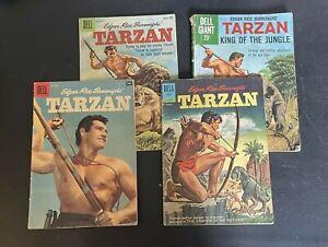 Lot Of 4 Tarzan Comics #108 S-O 1958, #115 N-D 1959 #131 J-A 1962 #37 Giant '60