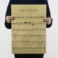 musical notation kraft paper posters customer bedroom background wall sticker US