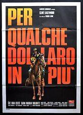 MANIFESTO POSTER CINEMA PER QUALCHE DOLLARO IN PIU' LEONE EASTWOOD WESTERN GUN 2
