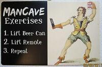 Funny Man Cave Gladiator Roman Soldier tin metal sign bar game room garage decor
