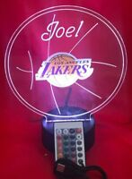 Los Angeles Lakers NBA Basketball Light Up Lamp LED With Remote Personalize Free