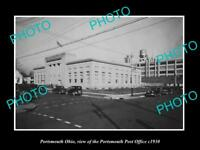 OLD LARGE HISTORIC PHOTO OF PORTSMOUTH OHIO, VIEW OF THE POST OFFICE c1930