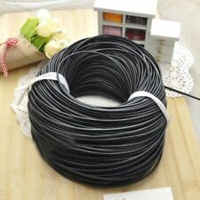 Black Leather Rope String Cord Necklace DIY Handmade Beaded Jewelry Making New