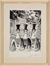 Marceau Marcel Original Lithographie, handsigniert -Pierrots-