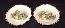 Two Vintage Mini Display Plates made in Occupied Japan with Victorian Design