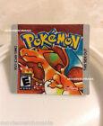 Pokemon Red Version Cartridge Replacement Label Sticker on Nintendo Gameboy Game