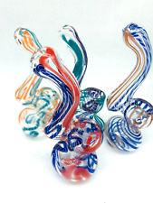 Collectible Tobacco Hookah Water Pipe 4 inch Mini Glass Bubbler Bong Smoking