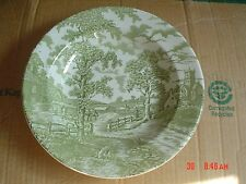Royal Maddock England Ultra Vitrified Green And White Bowl