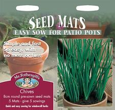Mr Fothergills - Pictorial Packet - Herb - Chives - 5 Seed Matts