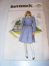 YOUNG CHILDS GIRLS UNCUT BUTTERICK Sewing Pattern 3145 PARTY FORMAL DRESS SIZE 7