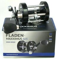 Fladen Maxximus 665 Hi Speed Surf Sea Casting Multiplier Fishing Reel Right Wind