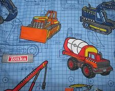 NEW kids boys TONKA TRUCK single curtain panel 40 x 64 vintage DAN RIVER nwot