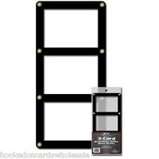 1 BCW 3 Card Black Border Screwdown Card Holder Storage Display Case