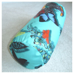 Christian Lacroix Butterflies Bolster Cover 6x16 Zip Butterfly Parade Turquoise