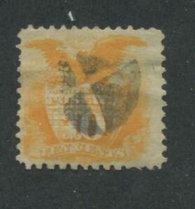 1869 US Stamp #116 10c Used F/VF Catalogue Value $200