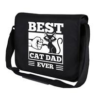 BEST CAT DAD EVER Fistbump Kitty Katze Sprüche Spaß Umhängetasche Messenger Bag