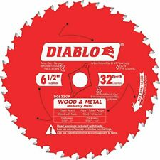 "(QTY 1) DIABLO D0632GP WOOD & METAL 6-1/2"" 32-TEETH SAW BLADE D0632GPA"
