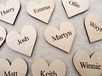 Wooden Personalised Hearts for Family Tree Wedding Guestbook Hearts Family Name
