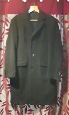 MARKS & SPENCERMen Italian FabricCharcoal Wool Blend Overcoat.