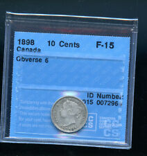 1898 Obverse 6 Canada 10 Cents CCCS Certified F15 DCB197